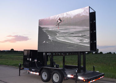 Outdoor Lifting Mobile Led Display Truck, Tampilan Video Seluler 6mm Pixel Pitch